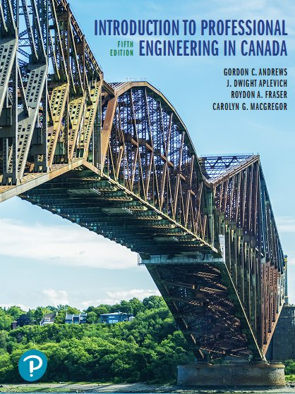 Introduction to Professional Engineering in Canada, Fifth Canadian Edition