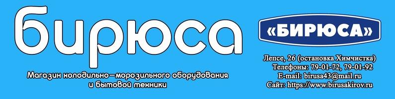 Магазин Бирюса Киров Каталог