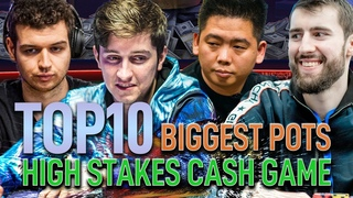 TOP 10 Biggest Pots | High Stakes Cash Game August 2020