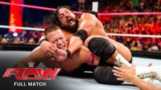 FULL MATCH - John Cena vs. Damien Sandow – World Heavyweight Title: Raw, Oct. 28, 2013