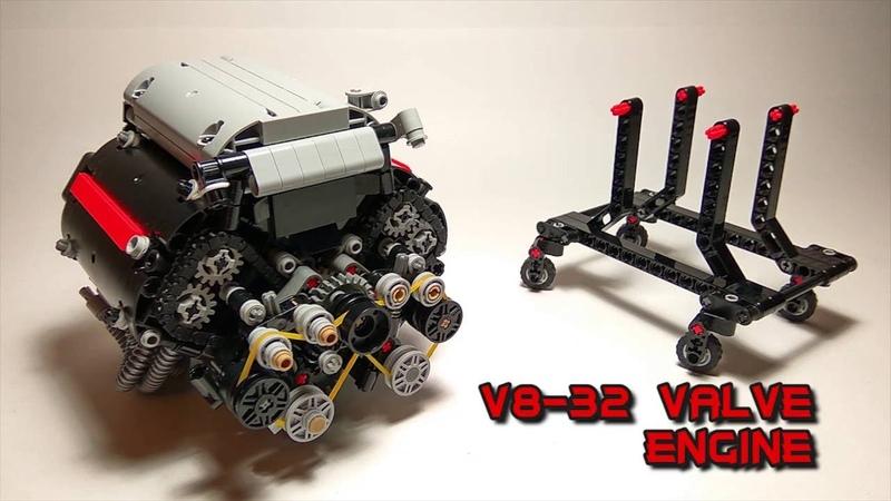[MOC] V8-32 VALVE 4-STROKES ENGINE LEGO TECHNIC PART 1