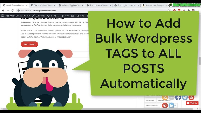 How to Add Automatic Tags To Wordpress Posts in BULK FREE Plugin