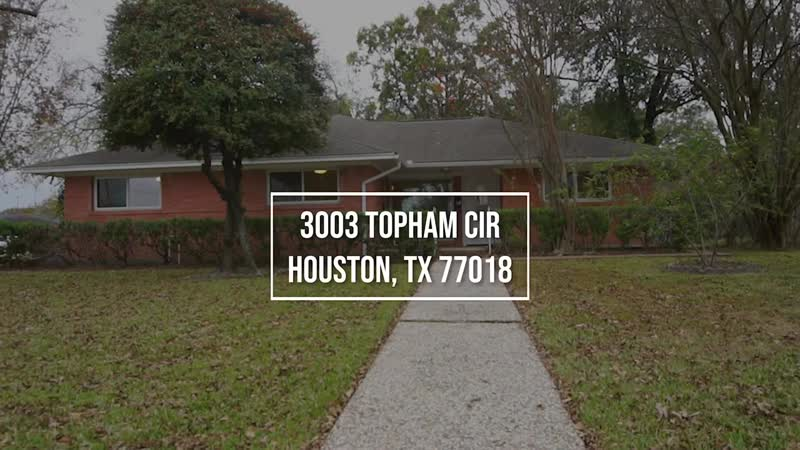 3003 Topham Cir, Houston, TX 77018 With Voice Over