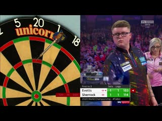 Ted Evetts vs Fallon Sherrock (PDC World Darts Championship 2020 / Round 1)